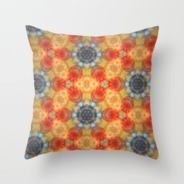 Orange Blossom and Blue Jeans Throw Pillow