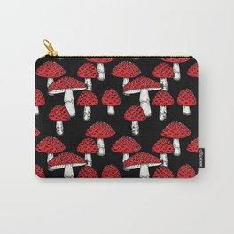 Amanita Muscaria Mushroom Print Carry-All Pouch