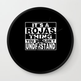 ROJAS Surname Personalized Gift Wall Clock