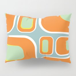Mod Pod -Retro Turquoise Orange Pillow Sham
