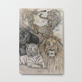 Big Cats Metal Print