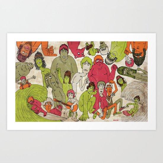 Double Barrell Art Print