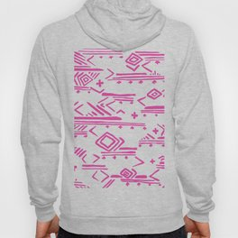 Pink watercolor abstract geometrical aztec tribal pattern Hoody