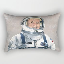 Ed White Rectangular Pillow