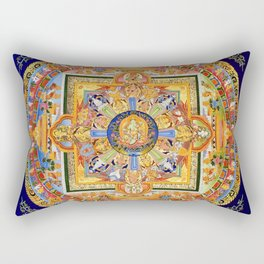 Buddhist Mandala 49 Green Tara Rectangular Pillow