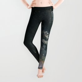 GREY - CONCRETE - ROAD - DAYLIGHT - JUNGLE - NATURE - PHOTOGRAPHY Leggings