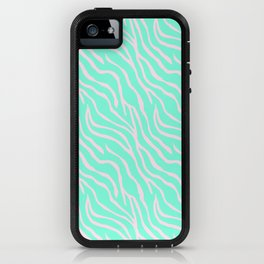 Green zebra iPhone Case