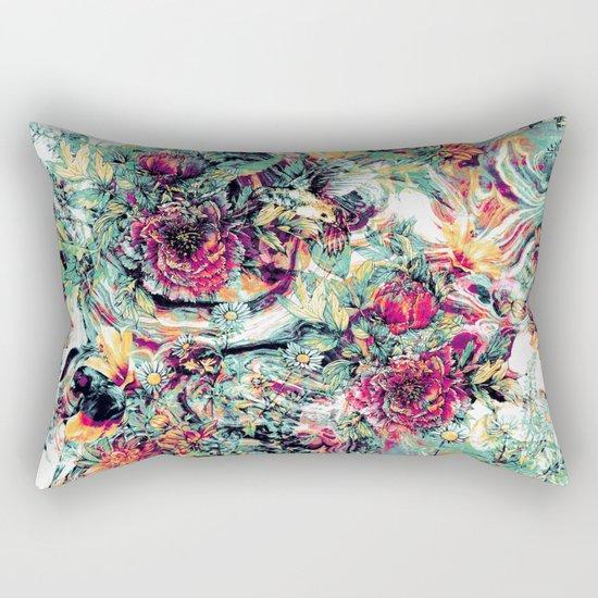 Flowers & Birds Rectangular Pillow