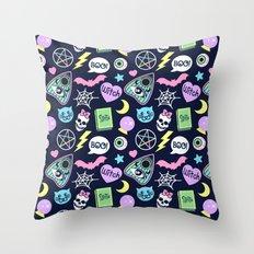 Spooky Babe Throw Pillow