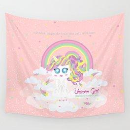 Unicorn Girl Wall Tapestry