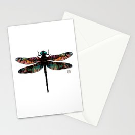 Dragonfly- Mixed Media Digital Collage Stationery Cards