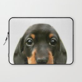 Dachshund baby Dog illustration original painting print Laptop Sleeve