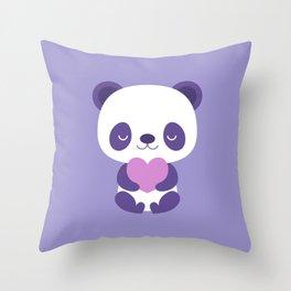 Cute purple baby pandas Throw Pillow