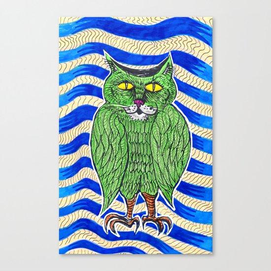 Catlearowl Canvas Print