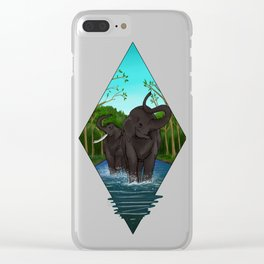 Asian Elephant Clear iPhone Case