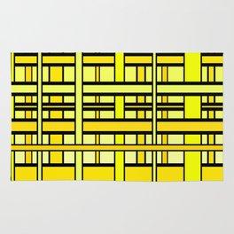 Yellow grid Rug