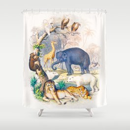 Jungle Friends - Exotic Animals Shower Curtain