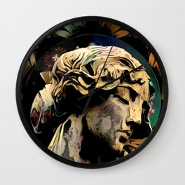 Autumn-Woven Reveries of Angels, Feathers, and Leaves Wall Clock