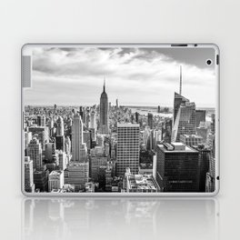 New York City Cityscape (Black and White) Laptop & iPad Skin