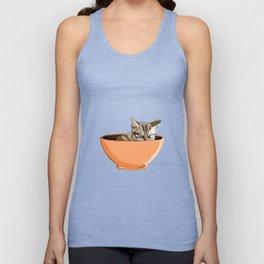 Cat Coffee Mug Unisex Tank Top