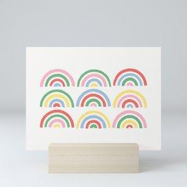 Stamped Rainbows - Cherry Mini Art Print