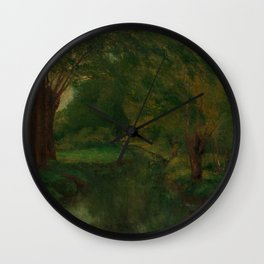 """Gustave Courbet """"A Brook in a Clearing"""" Wall Clock"""