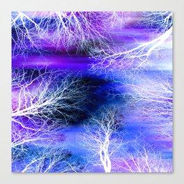 Midnight Trees Purple Blue Canvas Print