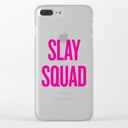 Slay Squad - Wedding Bridesmaid Bachelorette Party Design Clear iPhone Case