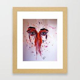 Colored Sadness  Framed Art Print