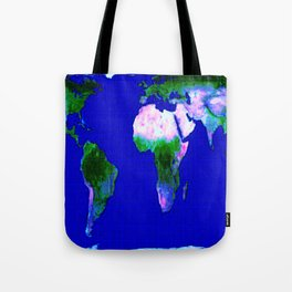 World Map : Gall Peters Tote Bag