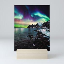 Aurora Lights Night Sky Mini Art Print