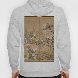 Ogata Korin - Flowering Plants in Autumn (1710) Hoody