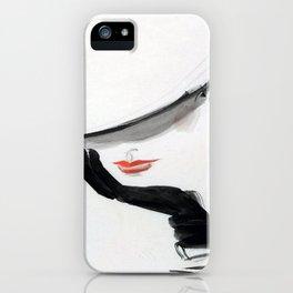 Retro Fashion Model with Black Glove iPhone Case