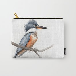 Kingfisher Bird Watercolor Illustration Carry-All Pouch