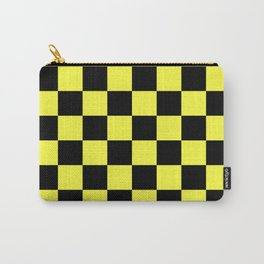 Black and Yellow Checkerboard Pattern Carry-All Pouch