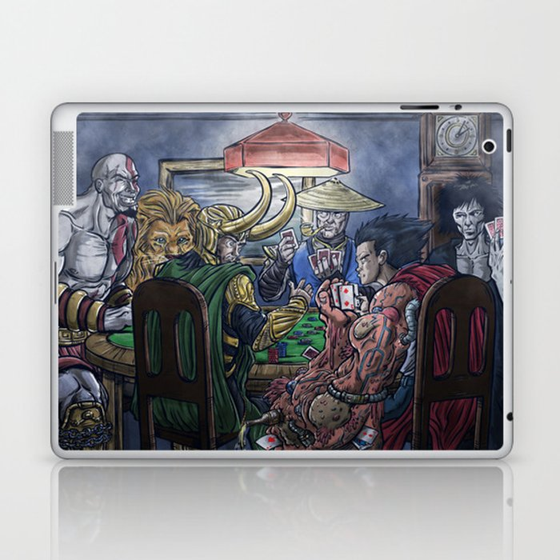 Gods Playing Poker Laptop & iPad Skin