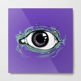 """I See You"" Purple Pattern Metal Print"