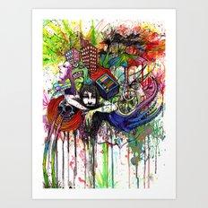 Color Tv Art Print