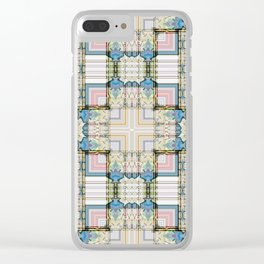 Multi Tiled Pastel Pattern Abstract Clear iPhone Case