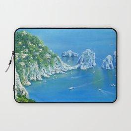 Island Paradise: Isle of Capri painting Laptop Sleeve