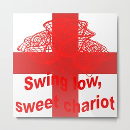 Swing Low Sweet Chariot St George Cross and Red Roses Metal Print