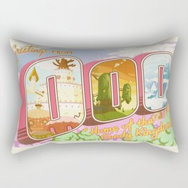Greetings from Ooo / Adventure Postcard Rectangular Pillow