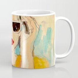 Pixel Sunglasses 01 Coffee Mug