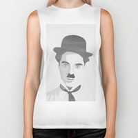 charlie chaplin Biker Tanks featuring Chaplin by Beitebe