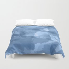 Ink Blue Watercolor Abstract Painting Duvet Cover