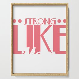 For All You Strong Women And Fitness Moms T-shirt Design Saying Strong Like Mom Mother Mommy Momma Serving Tray