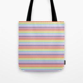 Modern artistic geometrical colorful violet orange green stripes Tote Bag