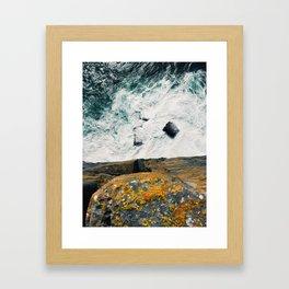 Over the edge of Dún Aonghasa Framed Art Print