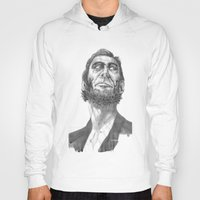 lincoln Hoodies featuring Lincoln 49 by David Sparvero