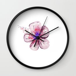 Little Lilac Flower Wall Clock